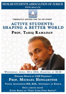 "Muslim Student Association Zürich: ""Shaping a better world"" @ Auditorium 