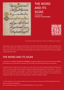 "Islamic Arts Museum Malaysia: ""The Word and its Signs"" @ IAMM Gallery 