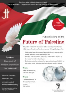 "Association of Muslim Lawyers UK: public meeting on ""The Future of Palestine"" @ Londres | Royaume-Uni"