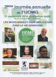 """2è journée annuelle de l'UOMG : """"Les musulmans et leur implication dans la vie genevoise"""" @ Auditorium Arditi   Genève   Genève   Suisse"""