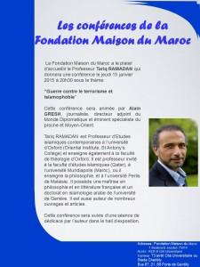 Tariq ramadan site officiel for Fondation maison du maroc