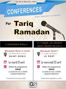 Série de conférences à l'Ile de la Réunion: 21 et 22 avril
