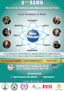 9 ème Rencontre Annuelle des Musulmans du Nord - Jeunes Musulmans @ Lille Grand Palais   ⚑ Lille Grand Palais 1   Nord-Pas-de-Calais   France